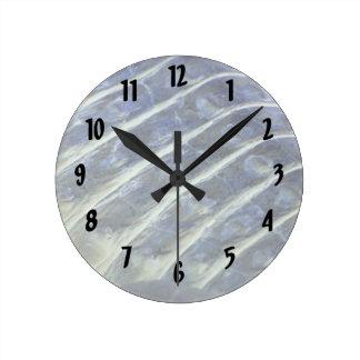 albino alligator back scales inverted round clock