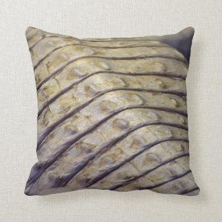 albino alligator back scales pillow