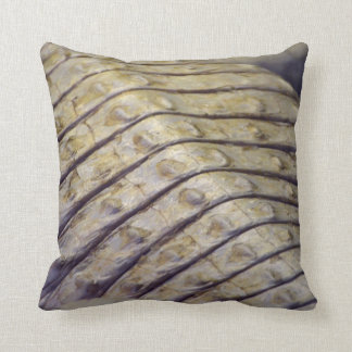 albino alligator back scales throw pillow