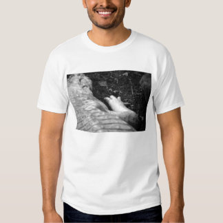 albino alligator right side black and white t shirt