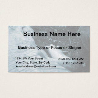 albino alligator right side blue tint animal business card