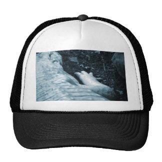 albino alligator right side blue tint animal trucker hats