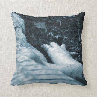 albino alligator right side blue tint animal pillow
