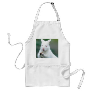 Albino Bennett Wallaby Adult Apron