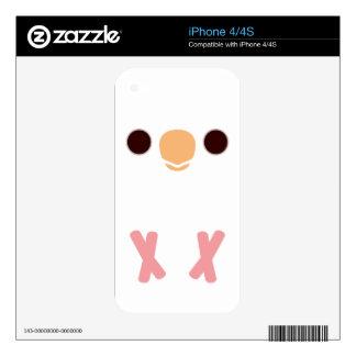 Albino Cockatiel Decals For iPhone 4S