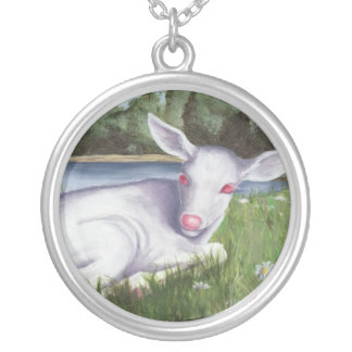 Albino Fawn Necklace Baby Deer Necklace