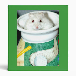 Albino Hamster Photo 3 Ring Binder