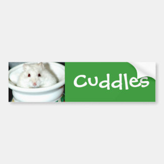 Albino Hamster Photo Bumper Sticker