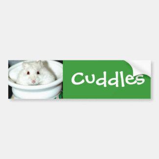 Albino Hamster Photo Bumper Sticker