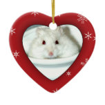 Albino Hamster Photo Ceramic Ornament