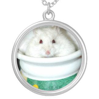 Albino Hamster Photo Custom Jewelry
