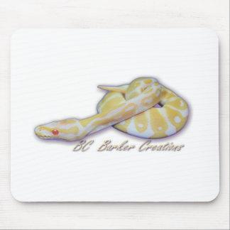 Albino Hatchling Ball Python Mouse Pad