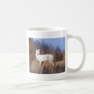 albino classic white coffee mug