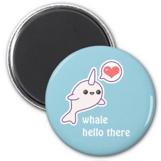 Albino Narwhal Magnet
