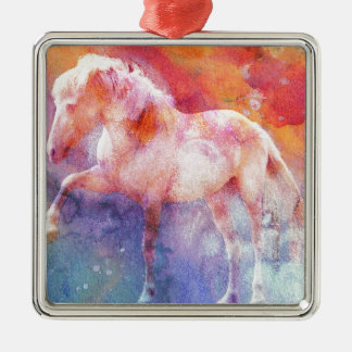 ALBINO ON COLOR 3 METAL ORNAMENT