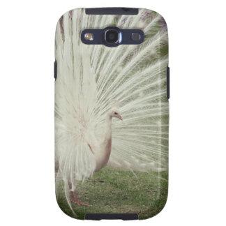 Albino peacock galaxy s3 cover