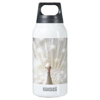 Albino Peacock design 10 Oz Insulated SIGG Thermos Water Bottle