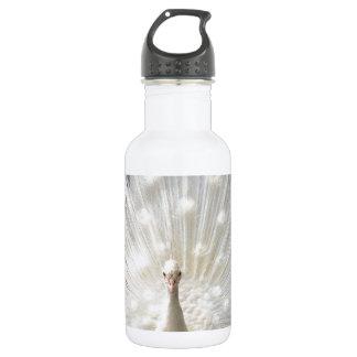 Albino Peacock design 18oz Water Bottle