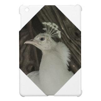 Albino peacock head cover for the iPad mini