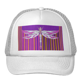 Albino Pink Dragonfly Purple Gifts by Sharles Mesh Hats