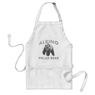 albino polar bear adult apron