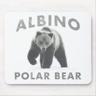 albino polar bear mouse pad