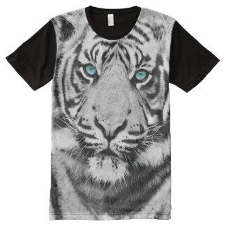 Albino Tiger Safari Wild Animal Blue Eyes All-Over-Print Shirt