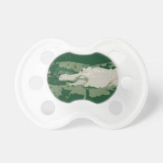 albino white alligator graphic green reptile BooginHead pacifier