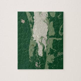 albino white alligator graphic green reptile puzzle