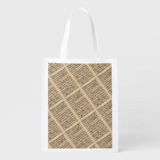 Albinoni Sinfonia Music Manuscript Reusable Grocery Bag