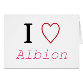 Albion Greeting Card