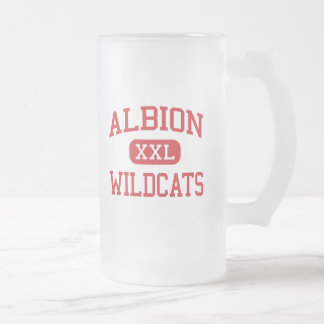 Albion - gatos monteses - mayor - Albion Michigan Taza De Cristal