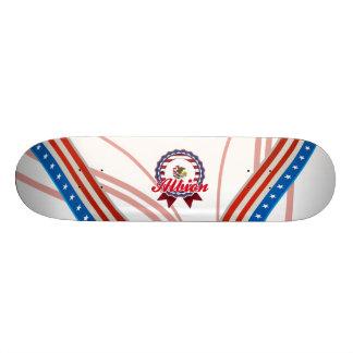 Albion, IL Custom Skate Board