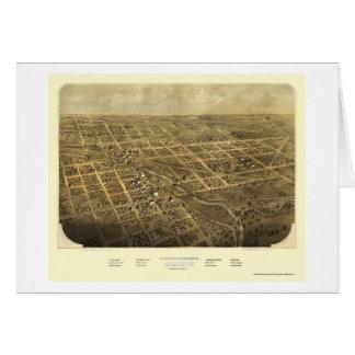 Albion, MI Panoramic Map - 1868 Greeting Card