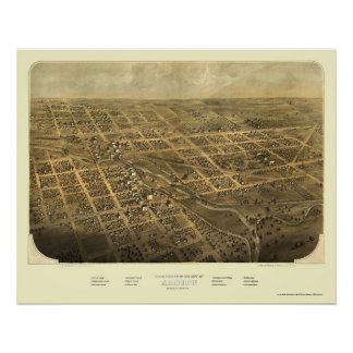 Albion, MI Panoramic Map - 1868 Poster