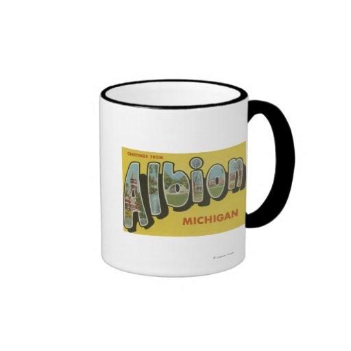 Albion, Michigan - Large Letter Scenes Coffee Mugs