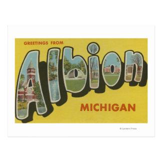 Albion, Michigan - Large Letter Scenes Postcards