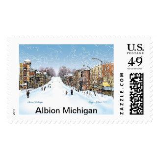 Albion Michigan Postage Stamp