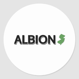 Albion, New Jersey Classic Round Sticker