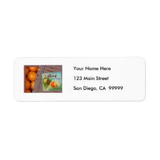 Albion Oranges Fruit Crate Label