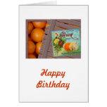 Albion Oranges Fruit Crate Label Card