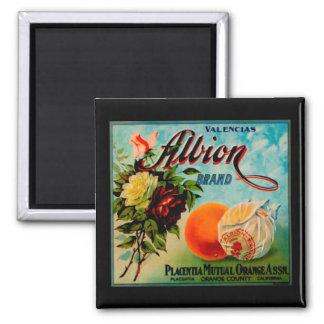 Albion Oranges Produce Crate Label - Fridge Magnet Magnet