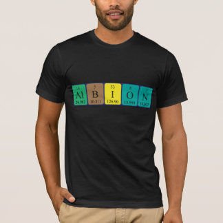 Albion periodic table name shirt