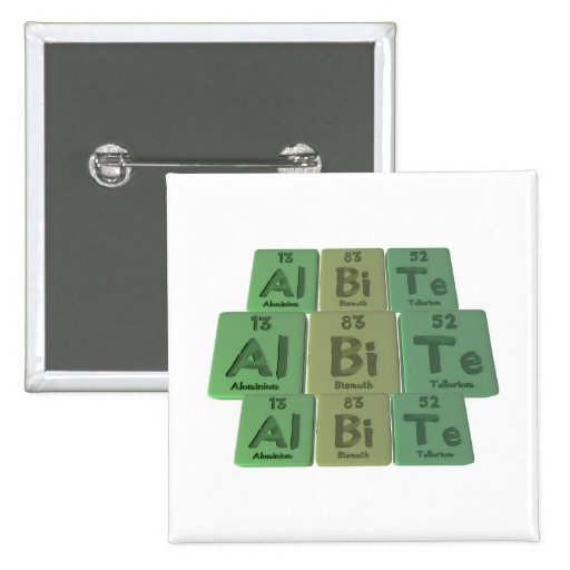 Albita-Al-BI-Te-Aluminio-Bismuto-Telurio Pin Cuadrada 5 Cm