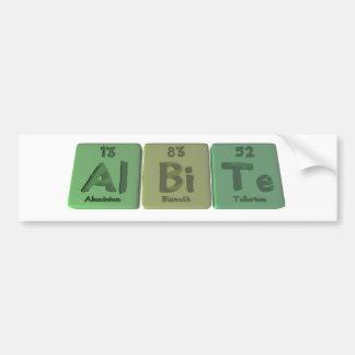 Albite-Al-Bi-Te-Aluminium-Bismuth-Tellurium Car Bumper Sticker