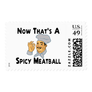 Albóndiga picante sellos postales