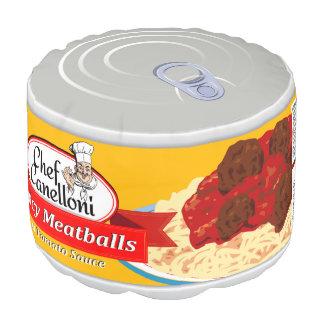 Albóndigas conservadas divertidas en salsa de puf redondo