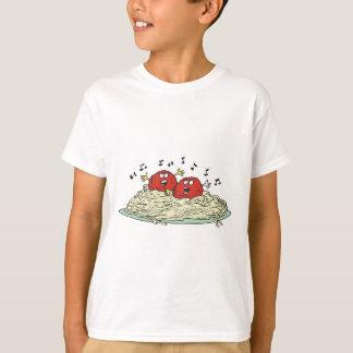 albóndigas del canto en los espaguetis playeras