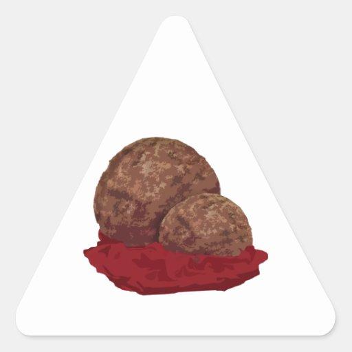 Albóndigas en salsa pegatina triangular