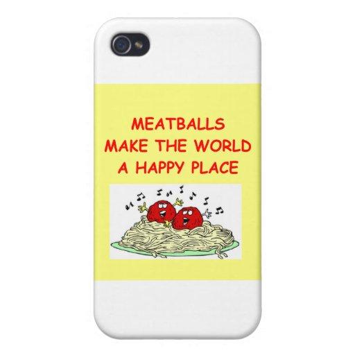 albóndigas iPhone 4 protectores